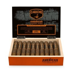 Camacho American Barrel Aged Robusto Kiste offen
