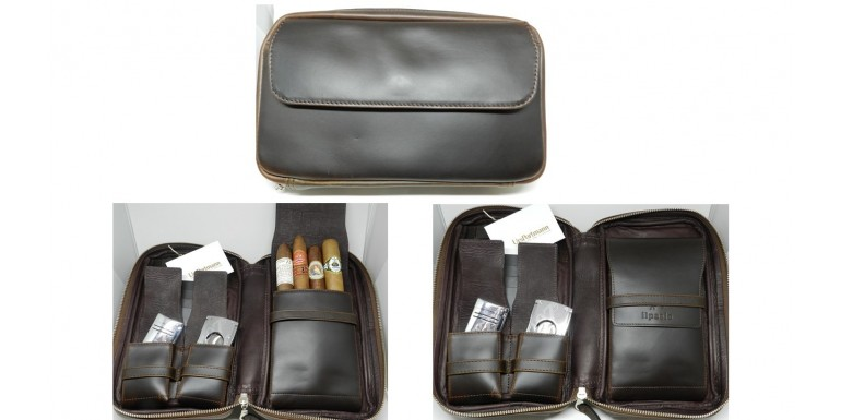Edition UrsPortmann Cigar Case in Braun & Schwarz